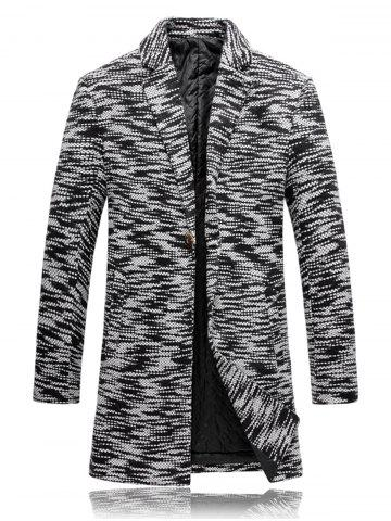 Store Knit Blends One Button Padded Coat