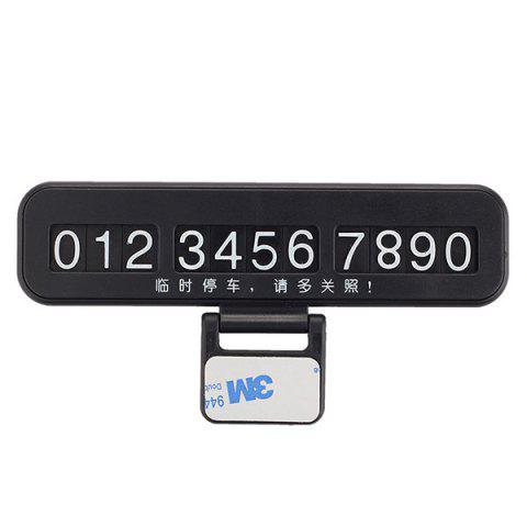 Cheap Creative Phone Number Plate Car Temporary Parking Card