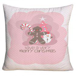 Merry Christmas Elements Printed Decorative Pillow Case - W18 Inch * L18 Inch