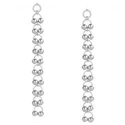 Metal Bell Circle Drop Earrings -