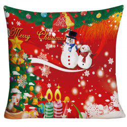 Merry Christmas Graphic Decorative Square Pillowcase - W18 Inch * L18 Inch