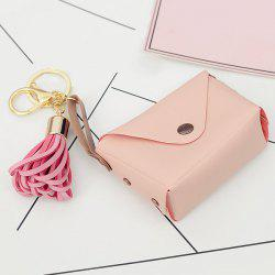 Cute Faux Leather Tassel Bag Keychain -