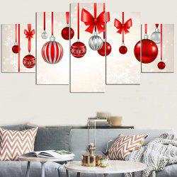 Christmas Hanging Baubles Pattern Wall Stickers For Living Room - Colorful - 1pc:8*20,2pcs:8*12,2pcs:8*16 Inch( No Frame )