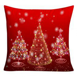 Sparkling Christmas Tree Printed Decorative Throw Pillowcase -