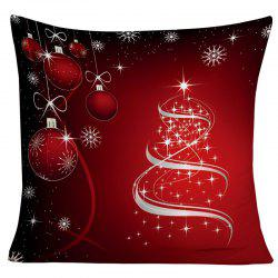 Christmas Hanging Balls Snowflake Printed Decorative Pillowcase - Dark Red - W18 Inch * L18 Inch