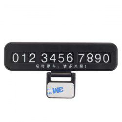 Creative Phone Number Plate Car Temporary Parking Card -