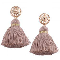 Bohemian Alloy Tassel Earrings -