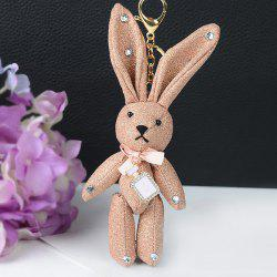 Rhinestone Cute Rabbit Keychain -