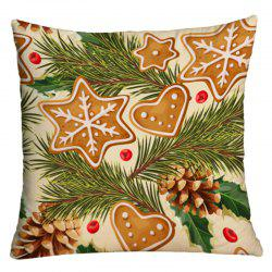 Novelty Christmas Graphic Square Decorative Pillowcase -