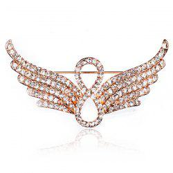 Rhinestoned Infinite Angel Wings Brooch -