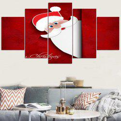 Cartoon Santa Claus Peeping Stickers muraux décoratifs -