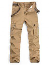 Straight Leg Multi Pockets Cargo Pants -