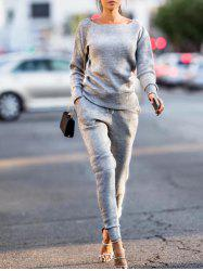 Long Sleeve Ribbed Sweat Suit -