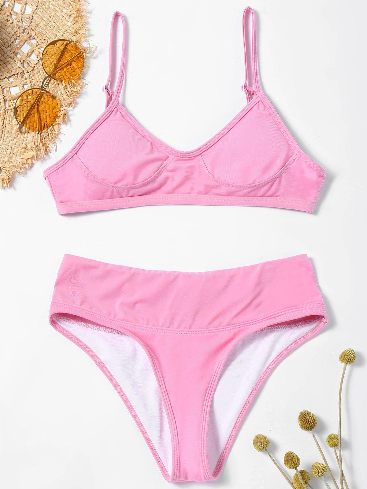 New Cami Strap High Leg Bikini Swimwear