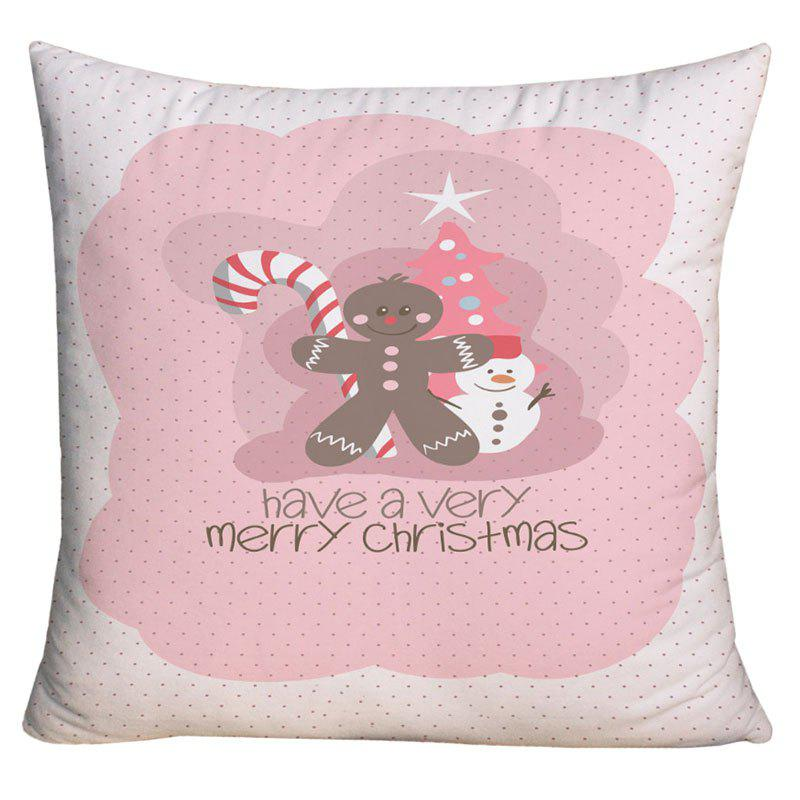 Merry Christmas Elements Printed Decorative Pillow CaseHOME<br><br>Size: W18 INCH * L18 INCH; Color: COLORMIX; Material: Polyester / Cotton; Pattern: Christmas Tree,Letter,Snowman; Style: Festival; Shape: Square; Weight: 0.1000kg; Package Contents: 1 x Pillow Case;