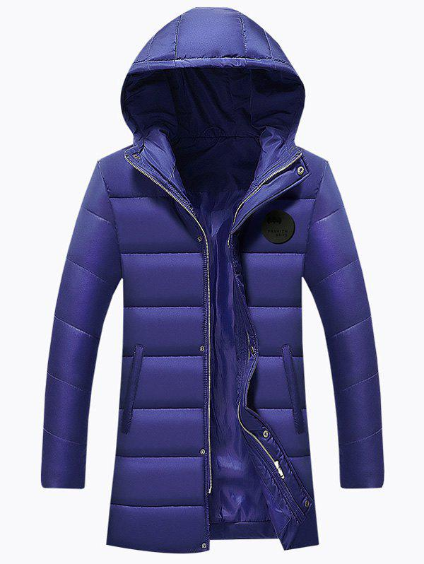 Hot Applique Longline Zip Up Padded Coat