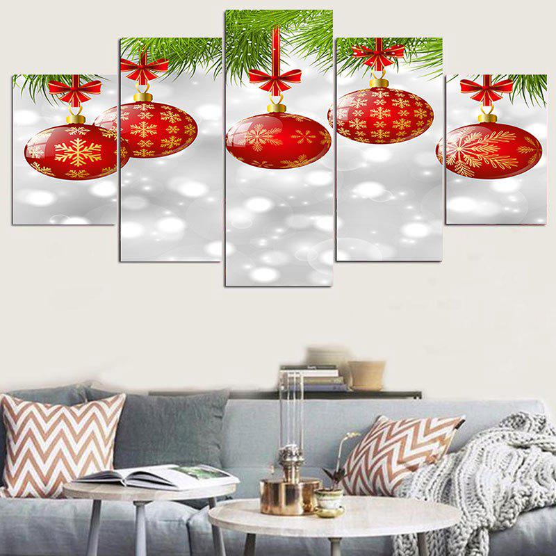Hanging Snowflakes Balls Patterned Wall StickersHOME<br><br>Size: 1PC:8*20,2PCS:8*12,2PCS:8*16 INCH( NO FRAME ); Color: RED AND WHITE; Wall Sticker Type: Plane Wall Stickers; Functions: Decorative Wall Stickers; Theme: Christmas; Pattern Type: Ball; Material: PVC; Feature: Removable; Weight: 0.1100kg; Package Contents: 5 x Wall Stickers (Pcs);