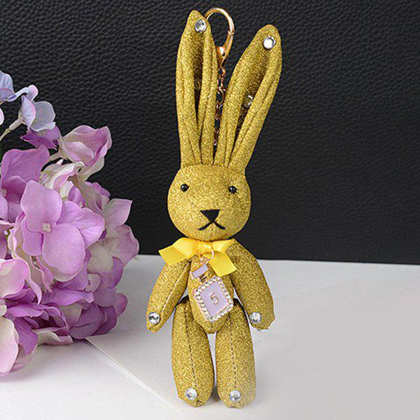 Chic Rhinestone Cute Rabbit Keychain