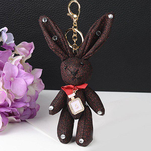 Unique Rhinestone Cute Rabbit Keychain