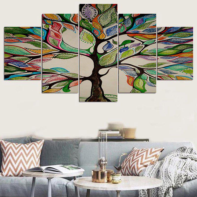 Shop Life Tree Printed Wall Decor Stickers & Colorful 1pc:8*202pcs:8*122pcs:8*16 Inch( No Frame ) Life Tree ...