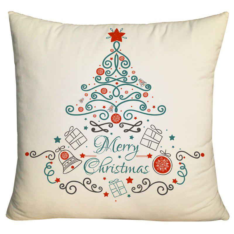 New Christmas Elements Tree Printed Decorative Pillow Case