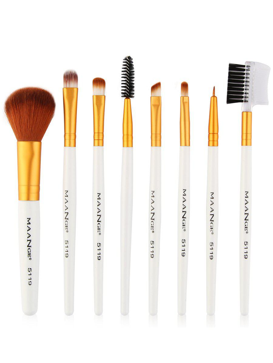 Best 8Pcs Professional Plastic Handle Eye Makeup Brushes Collection