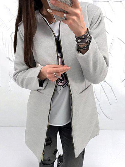 Store Long Sleeve Zipper Coat