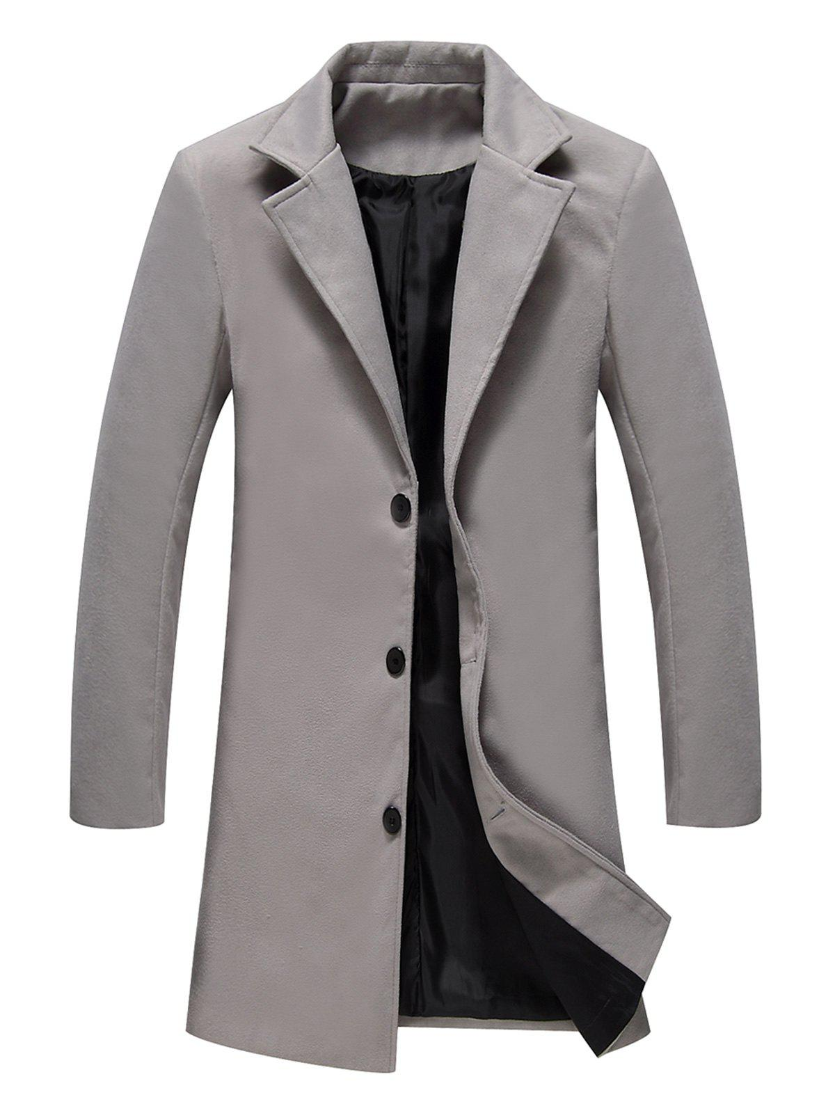 Buy Longline Single Breasted Woolen Coat