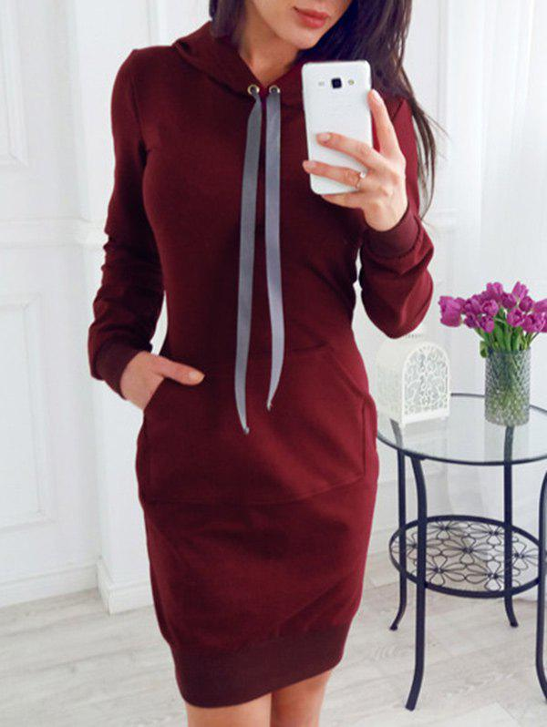 Best Drawstring Sheath Hoodie Dress