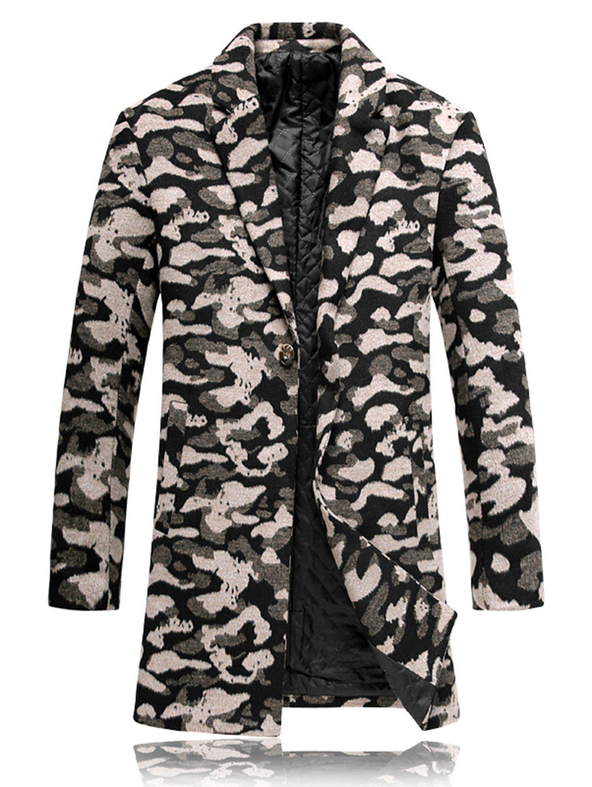 Buy Leopard Padded Woolen Coat