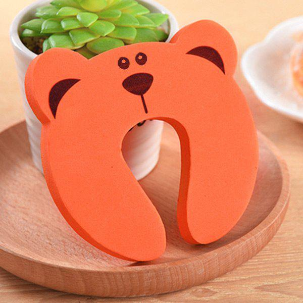 Baby Safety U Shape Cartoon Gate Card Security Door Stopper ClipHOME<br><br>Color: ORANGE; Products Type: Safety Door Stopper; Style: Cute; Material: EVA; Package Contents: 1 x Door Stopper;