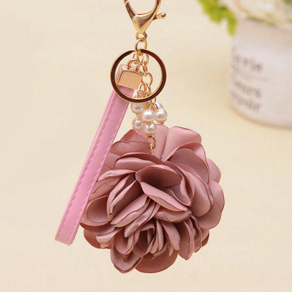 New Faux Pearl Vintage Flower Keychain