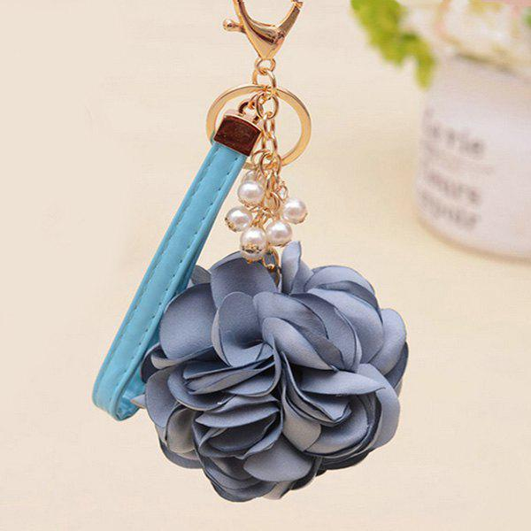 Cheap Faux Pearl Vintage Flower Keychain