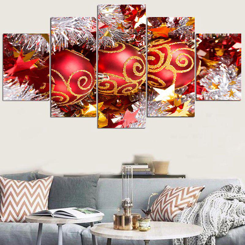 Christmas Baubles Pattern Wall Stickers For Living RoomHOME<br><br>Size: 1PC:8*20,2PCS:8*12,2PCS:8*16 INCH( NO FRAME ); Color: RED; Wall Sticker Type: Plane Wall Stickers; Functions: Stair Stickers; Theme: Christmas; Pattern Type: Ball; Material: PVC; Feature: Removable; Weight: 0.1500kg; Package Contents: 1 x Wall Stickers;