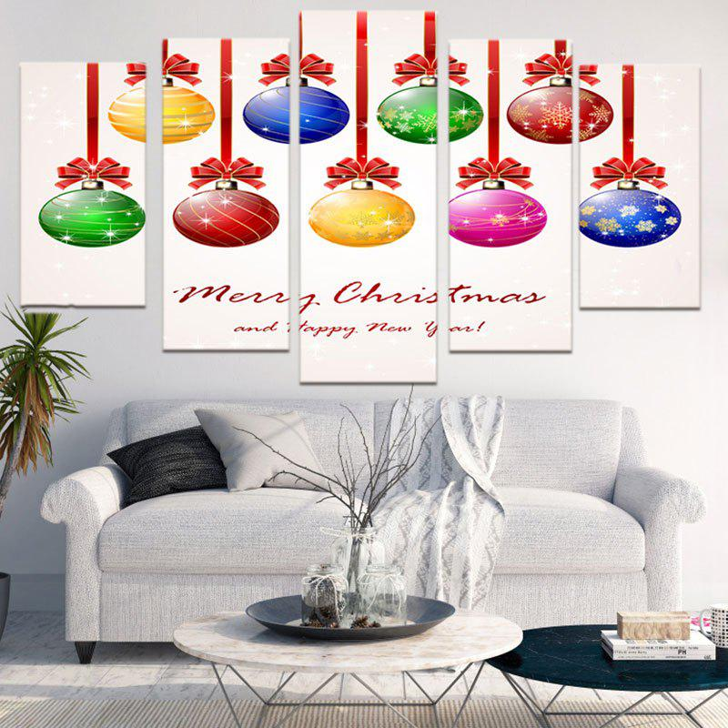 Christmas Baubles Letters Pattern Wall Stickers For Living RoomHOME<br><br>Size: 1PC:8*20,2PCS:8*12,2PCS:8*16 INCH( NO FRAME ); Color: COLORFUL; Wall Sticker Type: Plane Wall Stickers; Functions: Decorative Wall Stickers; Theme: Christmas; Pattern Type: Ball,Letter; Material: PVC; Feature: Removable; Weight: 0.1500kg; Package Contents: 1 x Wall Stickers;