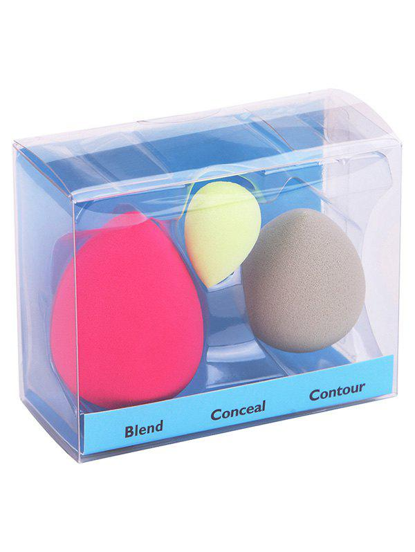 3Pcs Water Drop Shape Makeup Sponge PuffBEAUTY<br><br>Color: COLORMIX; Category: Powder Puff; Season: Fall,Spring,Summer,Winter; Weight: 0.0380kg; Package Contents: 3 x Sponges ( Pcs );