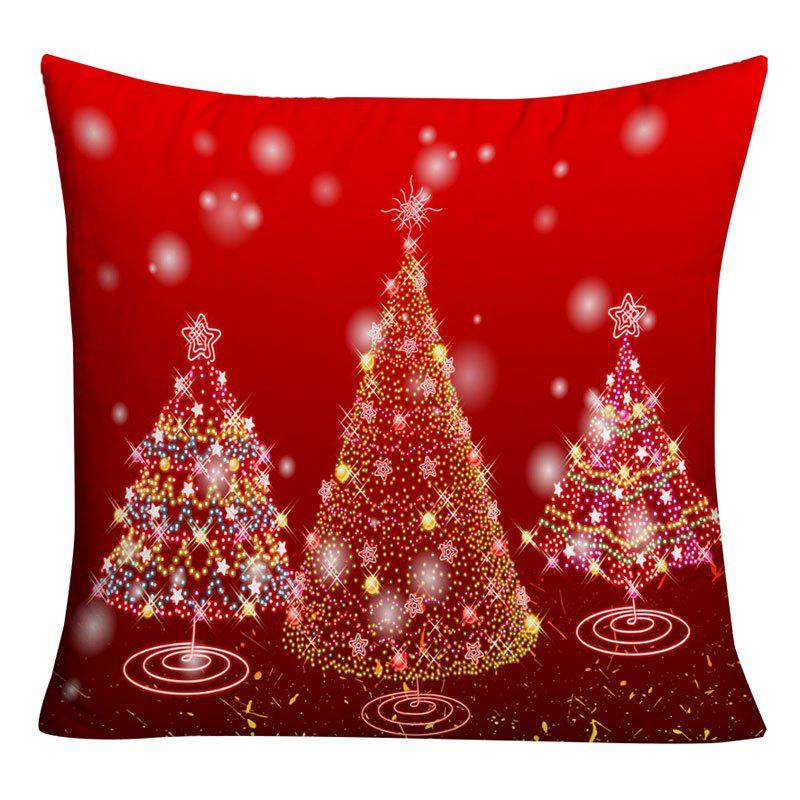 Shops Sparkling Christmas Tree Printed Decorative Throw Pillowcase