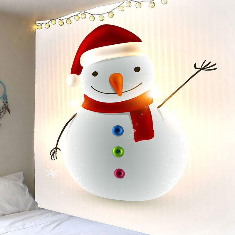 Affordable Christmas Happy Snowman Pattern Wall Art Tapestry
