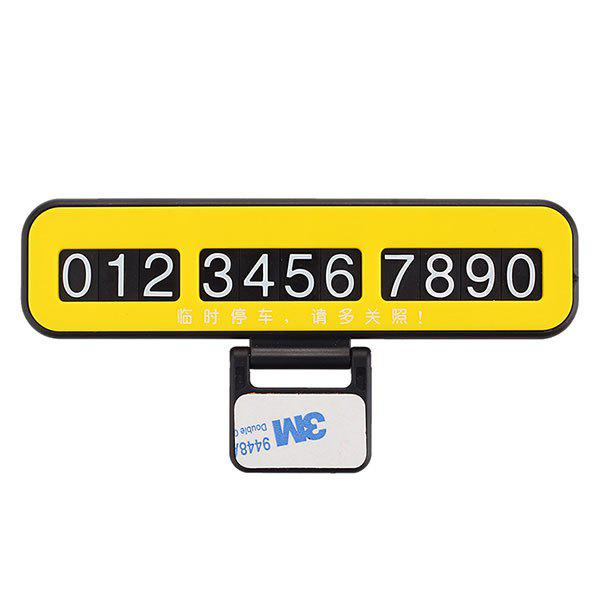 Outfits Creative Phone Number Plate Car Temporary Parking Card