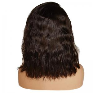 Medium Side Part Wave Bob Lace Front Human Hair Wig -