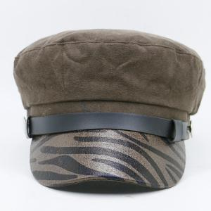 Zebra Stripes Pattern Decorated Military Hat -