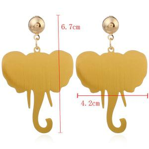 Simple Alloy Elephant Earrings -