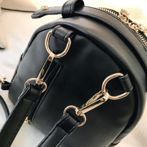 Faux Leather Metal Embellished Backpack -