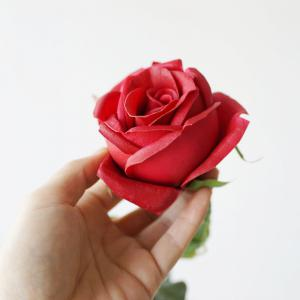 1 Piece Valentines Day Gift PU Artificial Rose Flower -