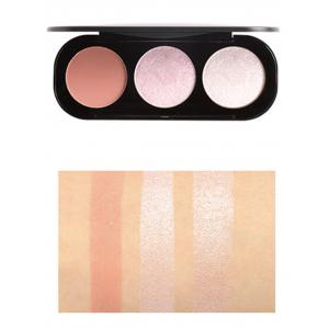 Multifunctional 3 Colors Highlight and Blush Travel Makeup Kit -