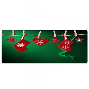 Christmas Hanging Socks Pattern Anti-skid Water Absorption Area Rug -