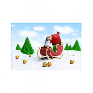 Christmas Trees Sleigh Pattern Anti-skid Water Absorption Area Rug -