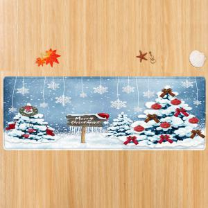 Christmas Trees Snowflakes Pattern Anti-skid Water Absorption Area Rug -