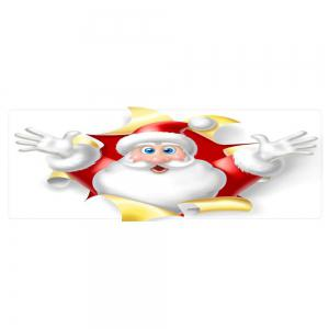 Christmas Santa Broken Pattern Anti-skid Water Absorption Area Rug -