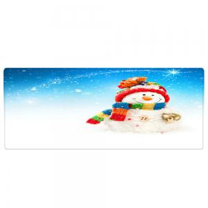 Christmas Snowman Bell Pattern Anti-skid Water Absorption Area Rug -